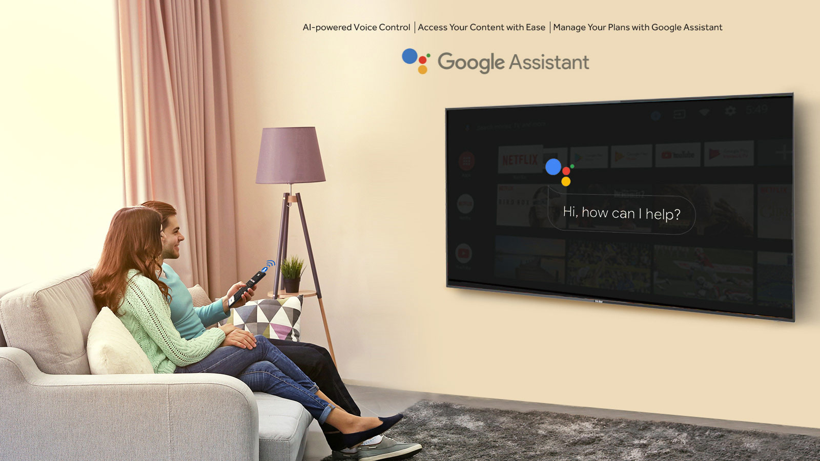 Intelligent-Voice-control-by-Google-Assistant